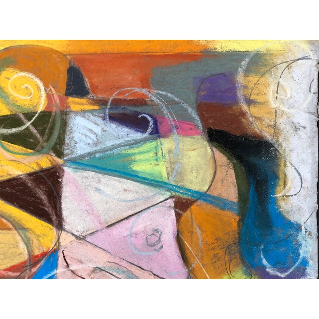 Abstract Abstraction No.107 Original Pastel by Erik Sulander 14x12 For Sale - Image 3 of 6