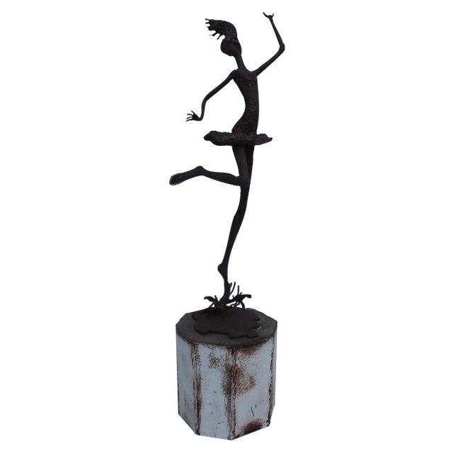 1970's Art Torch Cut Metal Floor Sculpture by Hambleton - Image 1 of 11