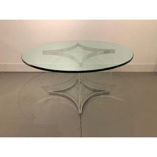1970s Hollywood Regency Alessandro Albrizzi Glass Chrome and Lucite Dining Table Preview