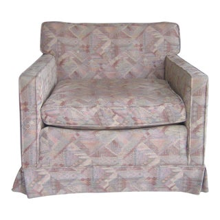 Vintage Henredon Abstract Upholstered Armchair