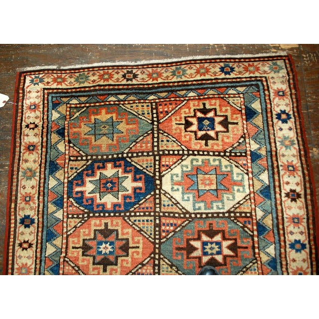 1880s Antique Hand Made Caucasian Kazak Mohan Rug- 3′10″ × 7′9″ For Sale - Image 10 of 10
