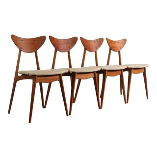 "1960s Vintage Teak ""Kay"" Dining Chairs by Fredrik Kayser- Set of 4 For Sale"