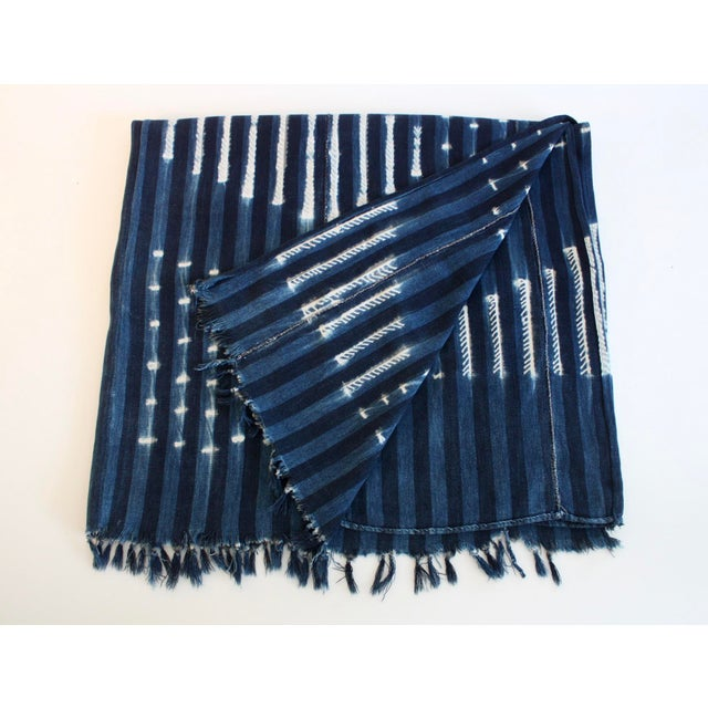 Vintage African Indigo Textile Throw - Image 4 of 5