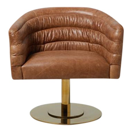 Cupa Brown Leather Chair - Image 1 of 5