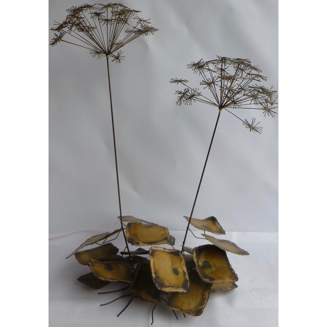 Signed Friedle Metal Wildflower Sculpture - Image 2 of 11