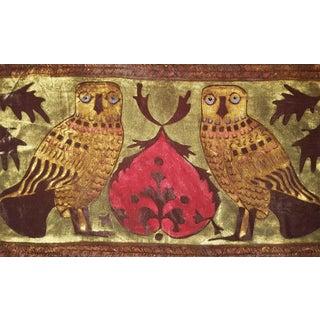 Civette Owls Silk Velvet Pillow Cover For Sale