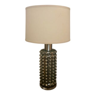 Mr. Brown Home Positano Textured Glass Base Table Lamp For Sale