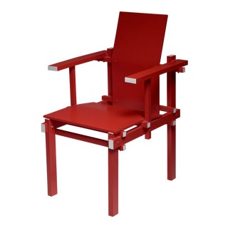 Red Gerrit Rietveld Armchair, the Netherlands, 1974 For Sale
