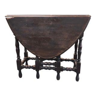 17th Century Antique Jacobean Drop Leaf Table For Sale