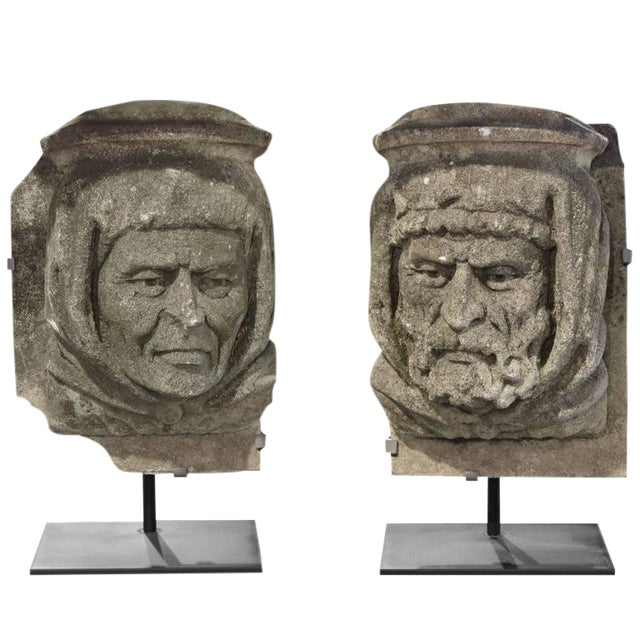 American Carved Limestone Facade Ornaments - Image 1 of 5