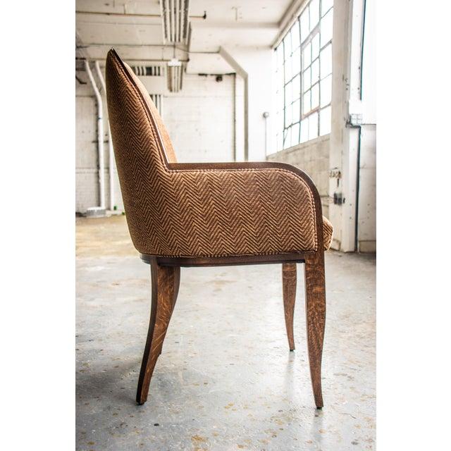 Art Deco Oak Arm Chair For Sale - Image 3 of 8