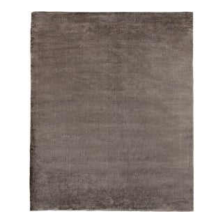 Exquisite Rugs Milton Hand Loom Viscose Khaki - 12'x15' For Sale