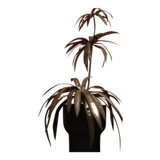 Mid-Century Brutalist Potted Palm Tree