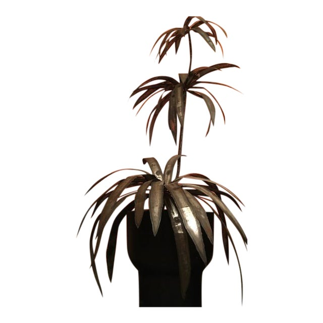 Mid-Century Brutalist Potted Palm Tree - Image 1 of 10