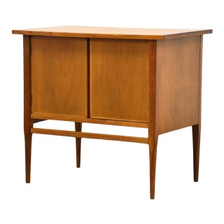 MCM Walnut Cabinet Nightstand For Sale