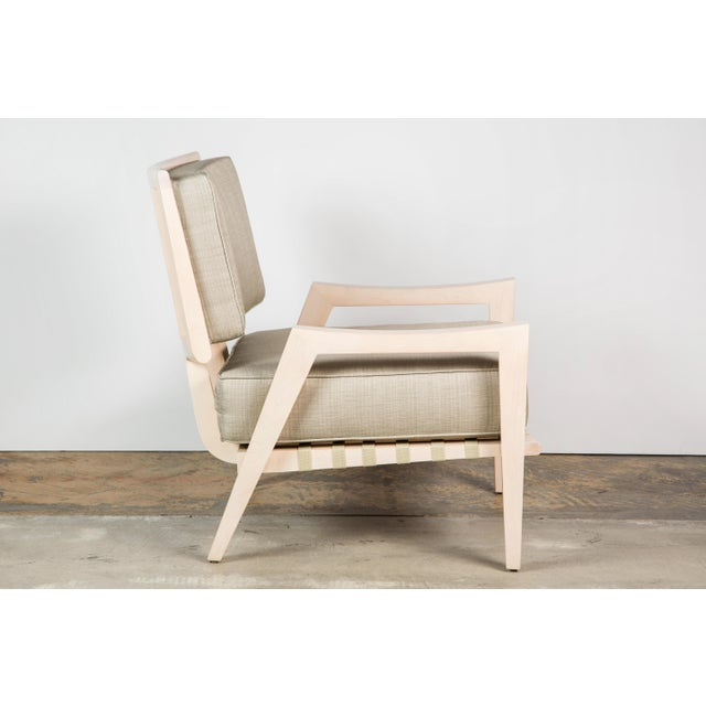 Contemporary Paul Marra Low Lounge Chair in Bleached Maple For Sale - Image 3 of 9
