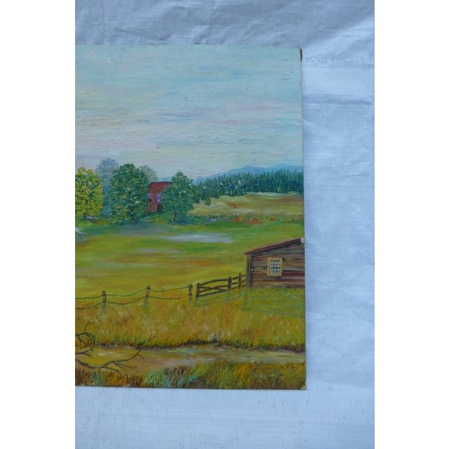 Mid Century Farm Painting by H.L. Musgrave - Image 6 of 7