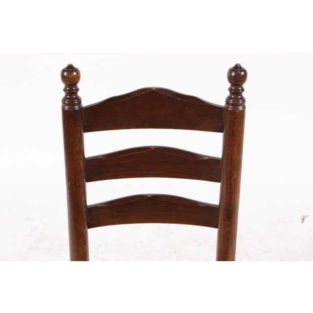 English Country Ladder Back Chairs - Set of 4 - Image 4 of 8