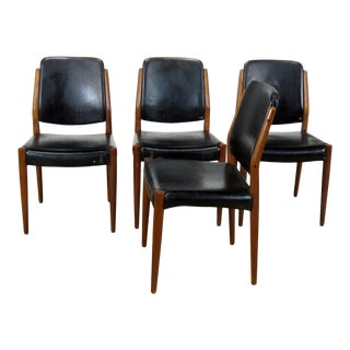 Mid-Century Modern Dining Room Chairs - Set of 4 For Sale