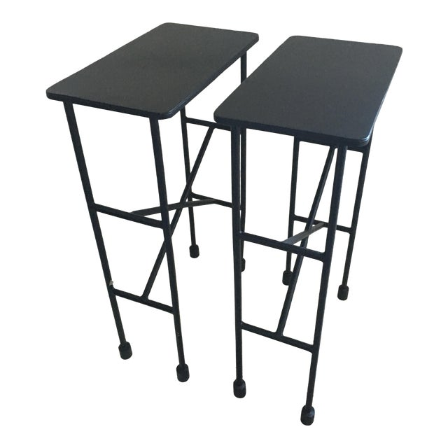 Pottery Barn Zane Accent Tables - A Pair - Image 1 of 9