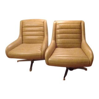 Room and Board Modern Lounge Swivel Chairs - A Pair