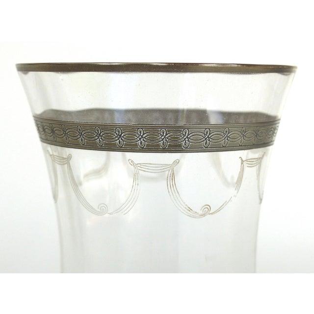 Transparent 1930s-1940's Art Deco Stemware Glasses- Set of 28 For Sale - Image 8 of 10