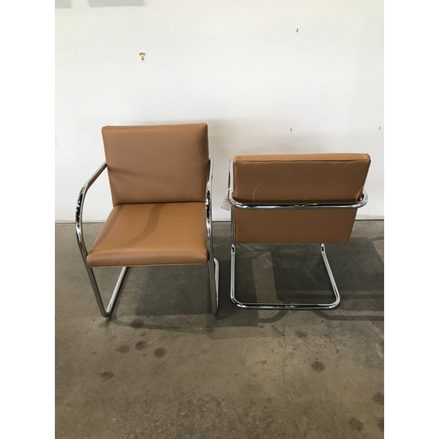 Contemporary 1950s Mid-Century Modern Bruno Tubular Chrome Chairs - a Pair For Sale - Image 3 of 6