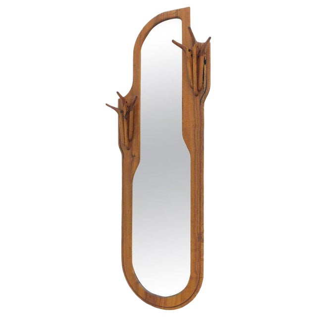 Studio Walnut Mirror by Charles B. Cobb For Sale