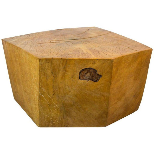 1960s Huge Solid American Studio Coffee Table or Stool by Howard Werner For Sale - Image 5 of 8