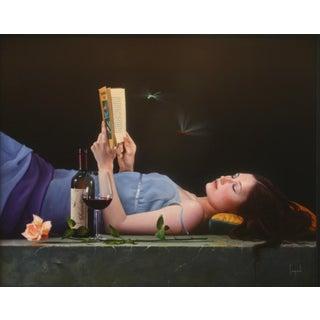 """Serendipity"" Contemporary Figurative Giclee Print by Dario Campanile For Sale"