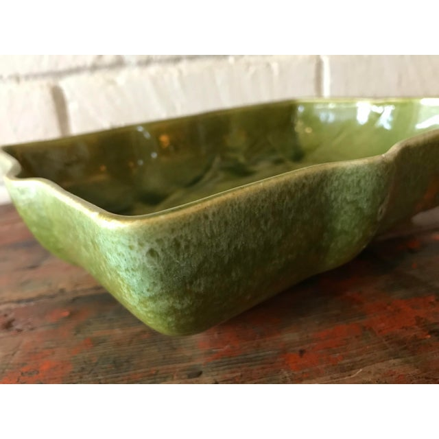 Blue Usa Pottery Green & Blue Shallow Planter For Sale - Image 8 of 9