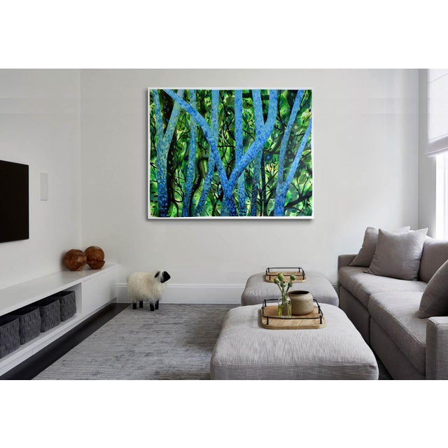 """Summertree Fantasia"" Original Acrylic Painting - Image 9 of 11"