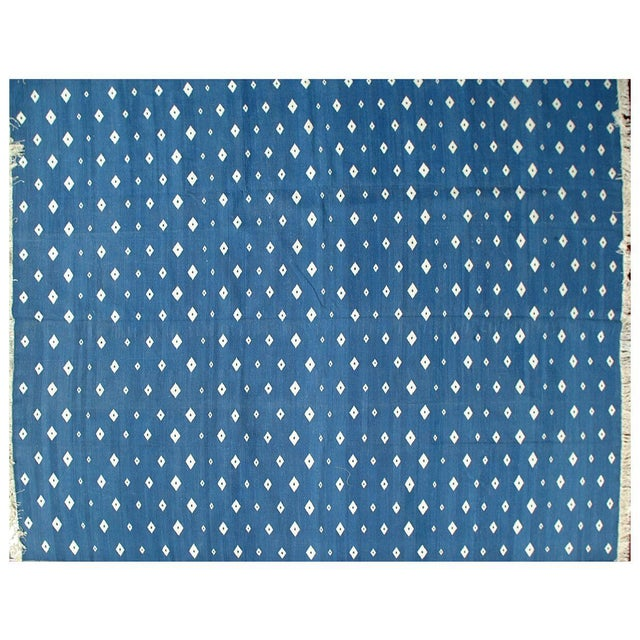 Stark Studio Rugs Traditional Cotton Dhurries Rug - 9′ × 12′ For Sale