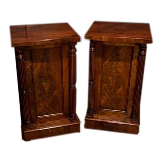 19th Century English Mahogany Cupboards - a Pair For Sale