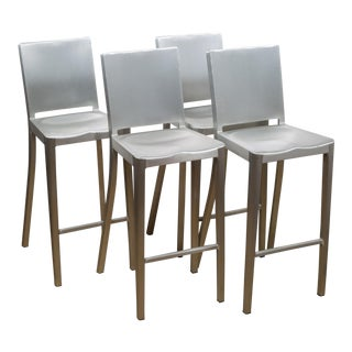 Set of 4 Emeco Hudson Counter Stools by Philippe Starck For Sale