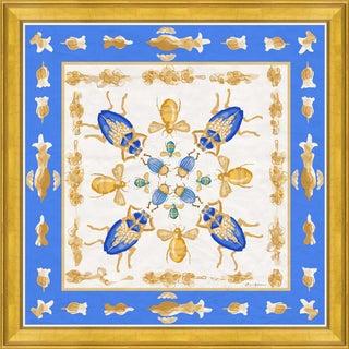 """Rive Gauche in Blue"" By Dana Gibson, Framed Art Print For Sale"