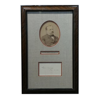 22nd & 24th Us President Grover Clevaland Original Signature With Photograph 1891 For Sale