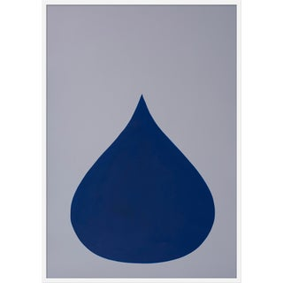 "Large ""Fat Drop of Bottle Blue on Frost"" Print by Stephanie Henderson, 36"" X 50"""