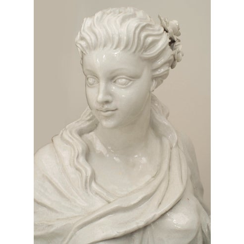 Neoclassical Set of 4 Large Italian Neoclassical Allegorical Figures, Circa 1850 For Sale - Image 3 of 6