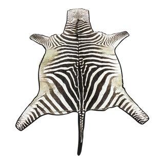 Large 9 Ft. Zebra Hide Rug For Sale