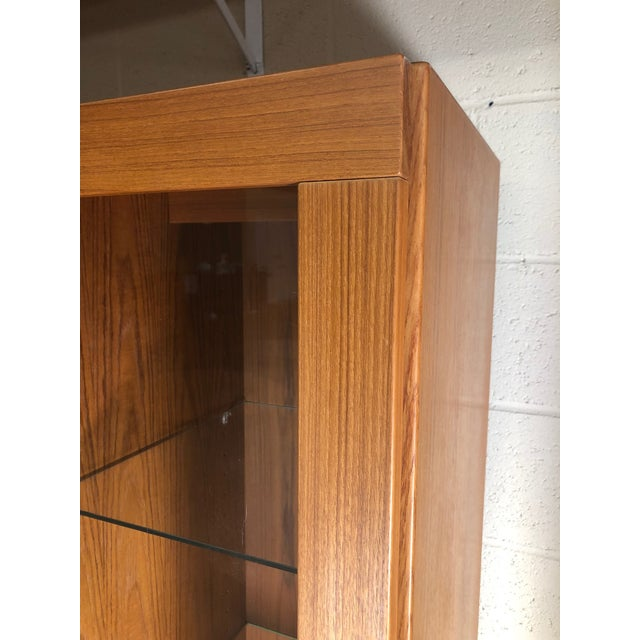 Brown Danish Modern Teak China or Display Cabinet 1980s For Sale - Image 8 of 9