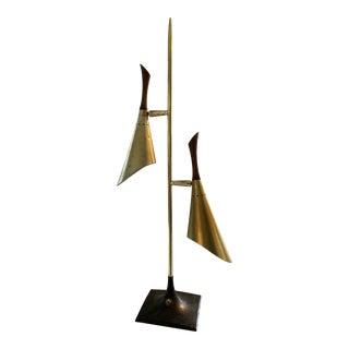1960s Laurel Brass Pole Table Lamp For Sale
