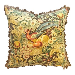 Traditional Custom Bountiful Harvest Pillow Cover For Sale