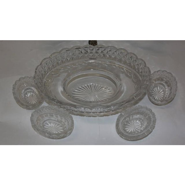 Bohemian Cut Crystal & Silver Centerpiece - Image 6 of 10