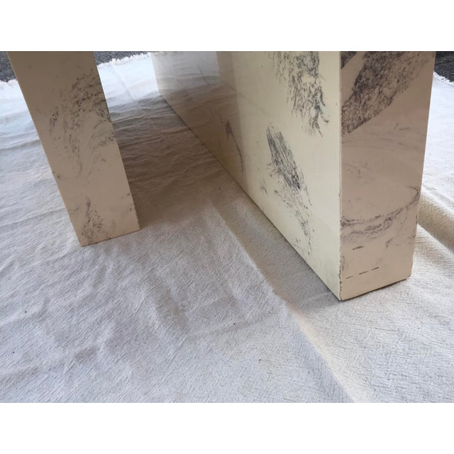Vintage Postmodern Geometric Shaped Marble Coffee Table For Sale - Image 9 of 13