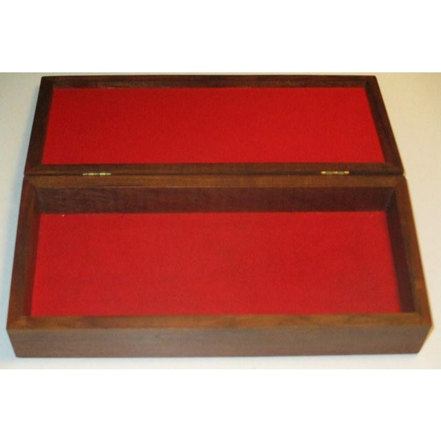 1960s Mid-Century Modern Rosewood Box With Abstract Enamel Top For Sale - Image 4 of 7