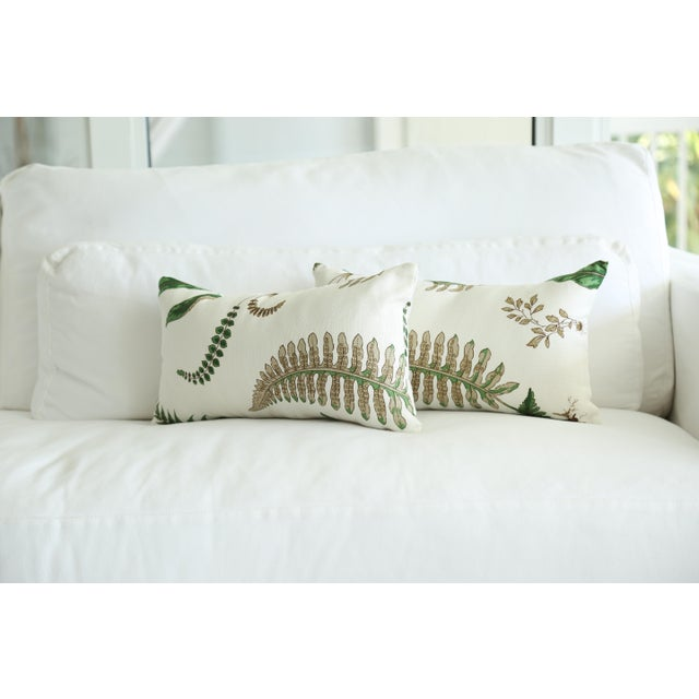 Stensöta (Fern) Textile Lumbar Pillows - a Pair 10 X 18 For Sale In Miami - Image 6 of 6