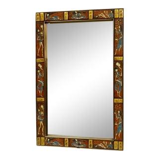 Tile Framed Labarge Wall Mirror For Sale