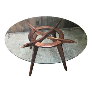 Mid Century Adrian Pearsall Compass Dining Table For Sale