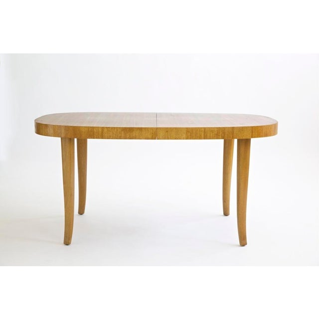 Splay-leg Dining table. Two leaves 10 in. each total length 80 in.